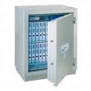 Rottner tűzálló páncélszekrény Mabisz E kategória Mega Paper Premium 140 kulcsos zárral alu fehér