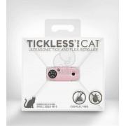 Aparat repelent cu ultrasunet împotriva căpușelor și puricilor TickLess Mini Cat Roz
