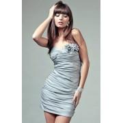 Brigitte sukienka (srebrny)