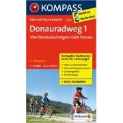 Fietskaart 7009 Donauradweg 1 | Kompass