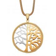albamoda.ch Anhänger Lebensbaum in Gelb- und Weißgold 375, Damen, gold