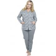Pijama de damă Paloma cu model floral XL
