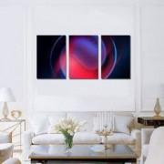 Tablou Canvas Premium Abstract Multicolor Cerc Rosu Decoratiuni Moderne pentru Casa 3 x 70 x 100 cm