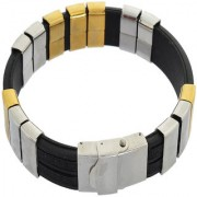 Sanaa Creations Mens Style Stainless Steel Multicolor Designer silicone Mens Bracelet New Year Special offer for Men B