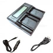 Ismartdigi LPE10 LCD cargador de bateria de doble ranura para Canon LP-E10-negro