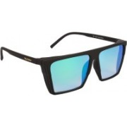NuVew Wayfarer, Shield Sunglasses(Green, Blue)