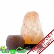 Veioză / lampă de sare HIMALAYA 1-2 kg & candelă de sare Mica- TRANSPORT GRATUIT