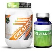 Advance Nutratech Creatine Monohydrate unflavoured 300 g Glutamine supplement powder 100 gm unflavoured