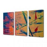 Tablou Canvas Premium Abstract Multicolor Culori Tomnatice Decoratiuni Moderne pentru Casa 3 x 70 x 100 cm