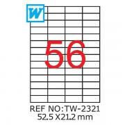 Etichete A4 , 52,5 x 21,2mm , TW 2321