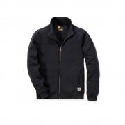 Carhartt K350 Midweight Mock Neck Zip Sweatshirt - Relaxed Fit - Black - XS
