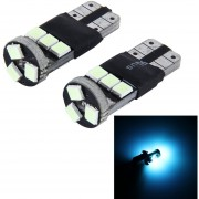 2 Pcs T10 CANBUS 5W SMD 2835 9 LED Lampara Coche Luz, DC 12V (Ice Azul Light)