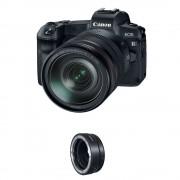 Canon EOS R Aparat Foto Mirrorless Kit cu Obiectiv RF24-105mm f4 L IS USM si Inel Adaptor EF-EOS R