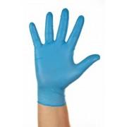 Védőkesztyű, egyszer használatos, nitril, L/9-es méret, púderezett (ME718)