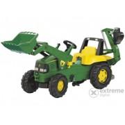 Tractor cu pedale și cupă Rolly Junior John Deere cu excavator