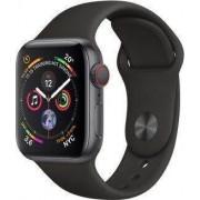 Apple Wie neu: Apple Watch Series 4 40 mm Aluminium GPS + Cellular grau Sportarmband schwarz