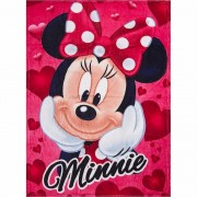 Rood fleece kleedje Minnie Mouse voor meisjes 90 x 120 cm