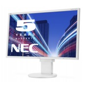 NEC MultiSync EA223WM white 22' LCD monitor with LED backlight, TN panel, resolution 1680x1050, VGA, DVI, DisplayPort, speakers, 130 mm height adjustable
