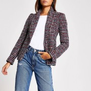 River Island Womens Red boucle long sleeve blazer (8)
