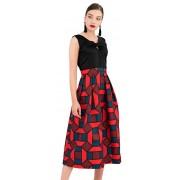 Closet London Rochie de damă Closet Gold 2-In-1 Full Skirt Dress Navy XXL