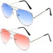 Unique Fashion Aviator Sunglasses(Pink, Blue)