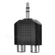 3.5mm macho a 2 * Adaptador RCA hembra Audio - Negro