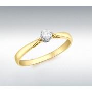 Inel Logodna Diamant Natural 0.10 carate din Aur 18 carate