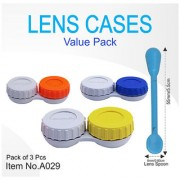 Heavy Duty Anti Bacteria Contact Lens Case with spoon