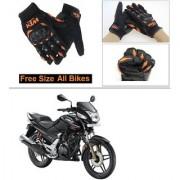 AutoStark Gloves KTM Bike Riding Gloves Orange and Black Riding Gloves Free Size For Honda CBZ