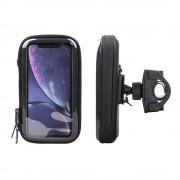 Interphone - iPhone Xr Motorhouder Unicase Telefoonhouder Fiets en Motor Stuur Zwart