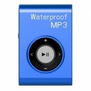 KELIMA deportes impermeable Clip-on sin perdida de musica reproductor de mp3 con auriculares - azul (4 GB)