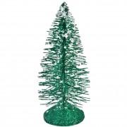 Brad decorativ metal Green 10 cm