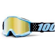 100% Accuri Extra Taichi Motocross Goggles Black Blue One Size
