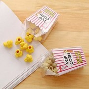 DollsnKings High Quality Goody Bag Fillers for Birthday Return Gifts (Fresh Popcorn Shape Erasers Box for Birthday Party Return Gift - Pack of 6 Boxes (Each Box Include 12 Erasers))