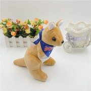 Mr. Bear & His Friends 28CM Cute kangaroo Plush Stuffed Animals Soft Toys Kangaroos with scarf Children Kids Baby Toy Playing Dolls Gifts - Brown Body With Blue Scarf