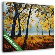 Őszi erdőrészlet (30x25 cm, Vászonkép )