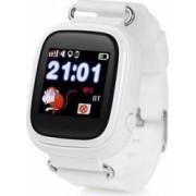Smartwatch copii Wonlex GW100 GPS, Touch, cu functie telefon Alb Bonus Cartela Prepaid Vodafone Power