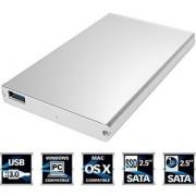 [Upgraded Version Support UASP] Sabrent Ultra Slim USB 3.0 to 2.5-Inch SATA External Aluminum Hard Drive Enclosure [Silver Aluminum Finish] (EC-UM30)
