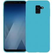 Protectie spate Senno Pure Flex Slim Mate TPU pentru Samsung Galaxy A8 2018 (Albastru deschis)