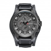CURREN Czarny zegarek CURREN z datownikiem