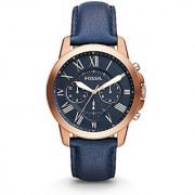 Fossil Analog Blue Dial Mens Watch - Fs4835