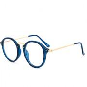 Royal Son Men's Transparent Free-size UV Protection Round Sunglasses