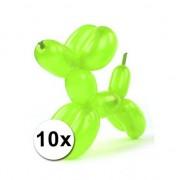 Shoppartners Clownsballonnen neon 10 stuks