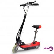 vidaXL Električni skuter sa sjedalom 120 W crveni