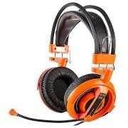 E-BLUE Cobra Biauricular Diadema Naranja Auriculares con micrófono (PC/Juegos, Biauricular, Diadema, Naranja, Alámbrico, Circumaural)