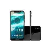 Smartphone Motorola One XT1941, 4G 64GB Câmera Traseira Dupla 13.0MP+2.0MP Tela 5.9, Preto