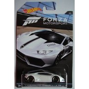 HOT WHEELS FORZA MOTORSPORT SERIES WHITE LAMBORGHINI HURACAN LP 610-4 4/6 PR5