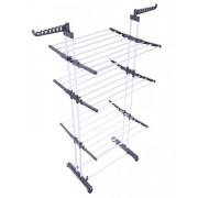 Uscator Haine Rufe Mobil pentru Casa, Curte sau Gradina, Vertical si Pliabil cu Suport Pentru Umerase + Set de 20 Cleme