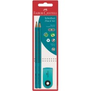 Faber-Castell Matita Grip. Confezione 2 matite + Gomma mini sleev...
