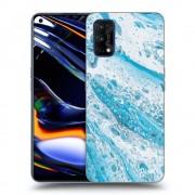 Átlátszó szilikon tok az alábbi mobiltelefonokra Realme 7 Pro - Blue liquid